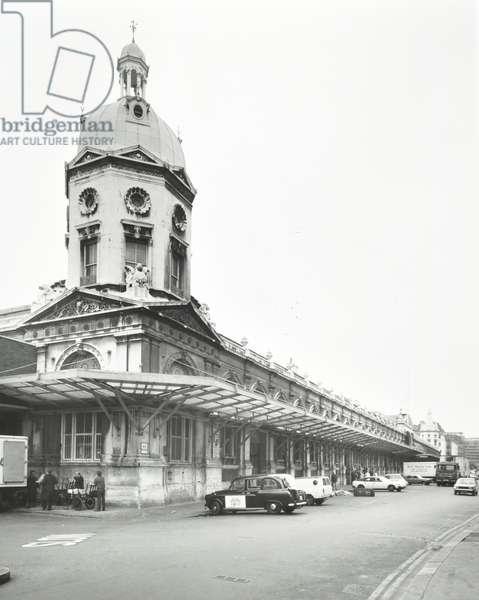 Smithfield Market, 1982 (b/w photo)