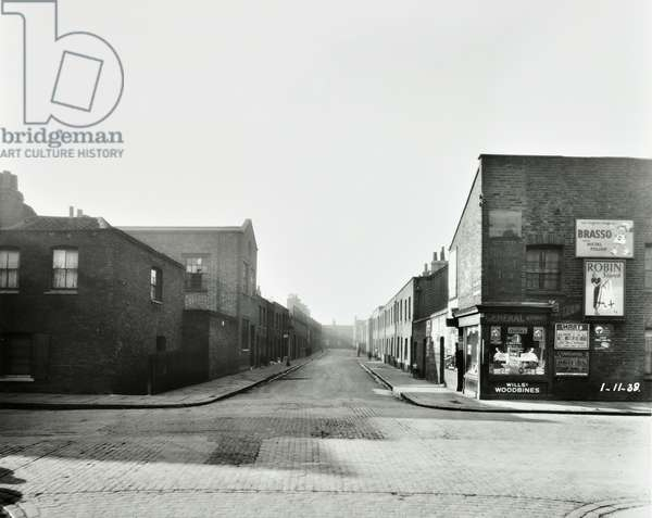 Florida Street, Bethnal Green, 1938 (b/w photo)