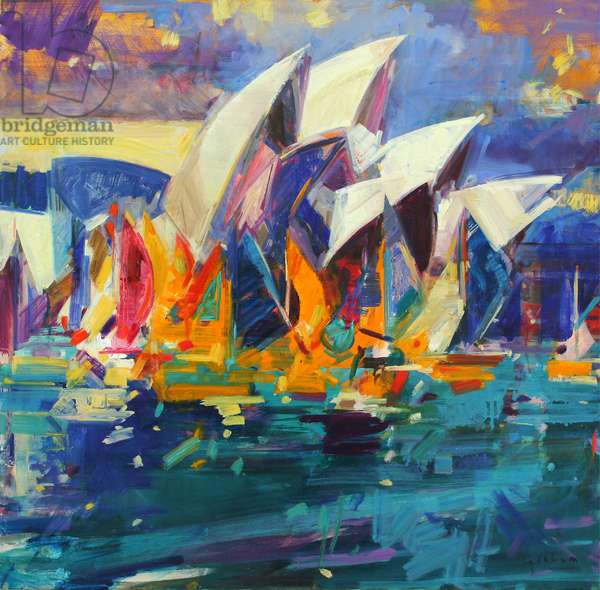 Sydney Flying Colours, 2012 (oil on canvas)
