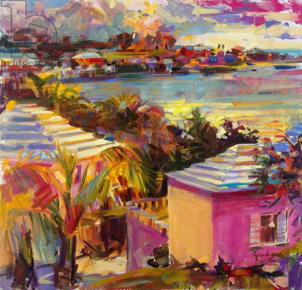 Dusk Reflections, Bermuda, 2011 (oil on canvas)