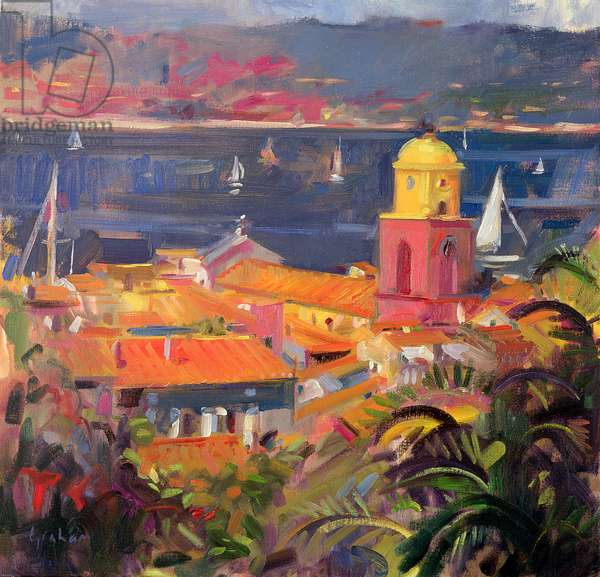 St Tropez Sailing, 2002 (oil on canvas)