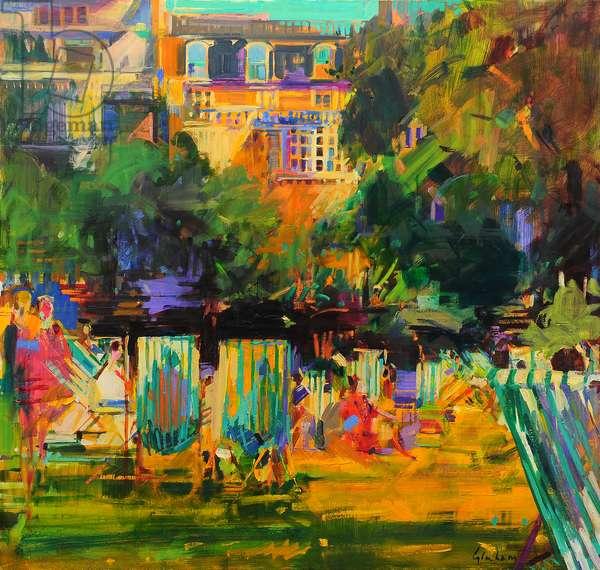 Green Park (oil on canvas)