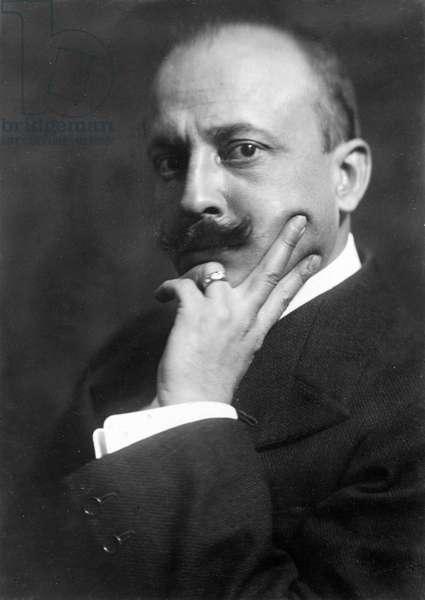 Filippo Tommaso Marinetti (1876 - 1944), Italian writer (futurist) in 1916