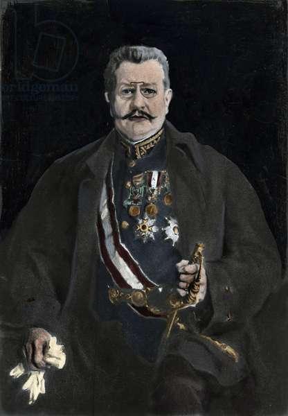 Portrait of Louis II of Monaco (1870-1949) Photography