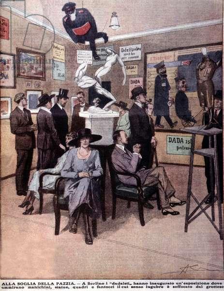 Dadaiste (dada) exhibition opened in Berlin in 1920.