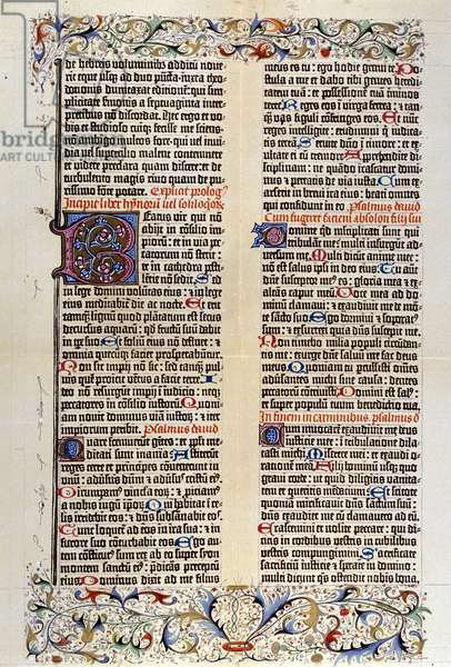 Gutenberg Bible in Latin (vulgate), 42 lines. 1455. (idem COS01299)