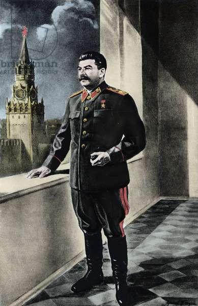 JOSEPH STALIN (1879-1953) - Soviet Political leader - Portrait of the Sovietic Head of State Joseph Stalin (Stalin) (Joseph Vissarionovich Djougashvili dit) (1879-1953)