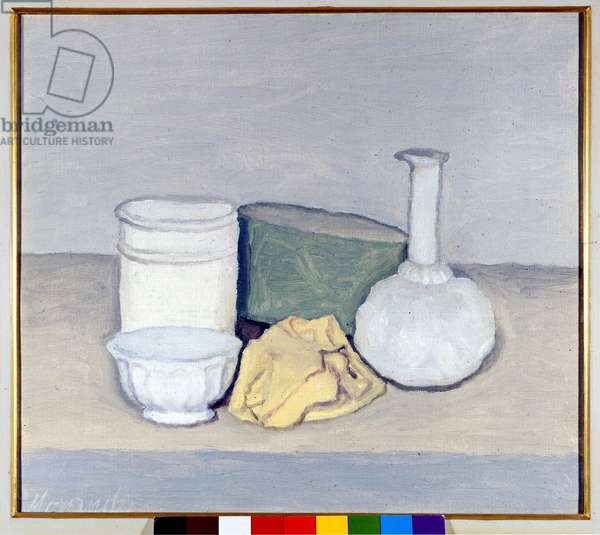 Still life with yellow cloth, 1952 (oil on canvas)