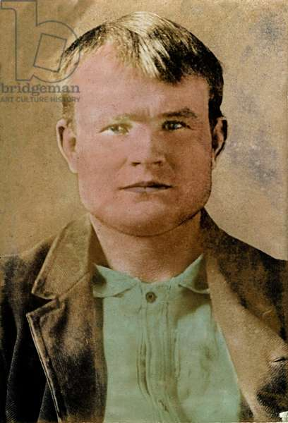 Portrait of Butch Cassidy (Robert LeRoy Parker dit, 1866-1908), famous American bank robber.