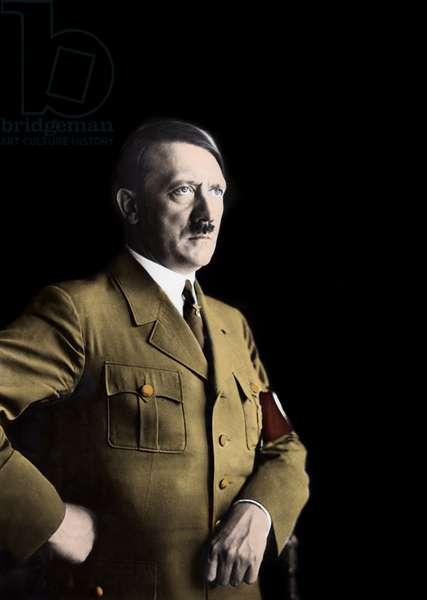 portrait of Adolf Hitler 1935 - Portrait of Adolph (Adolf) Hitler (1889-1945), German dictator around 1935.