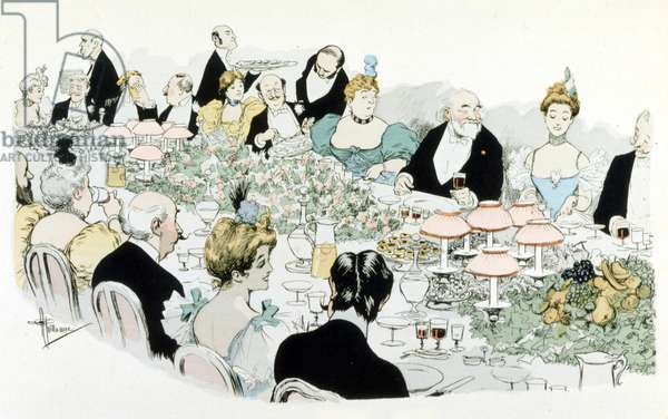 Dinner by Guillaume in 1908.
