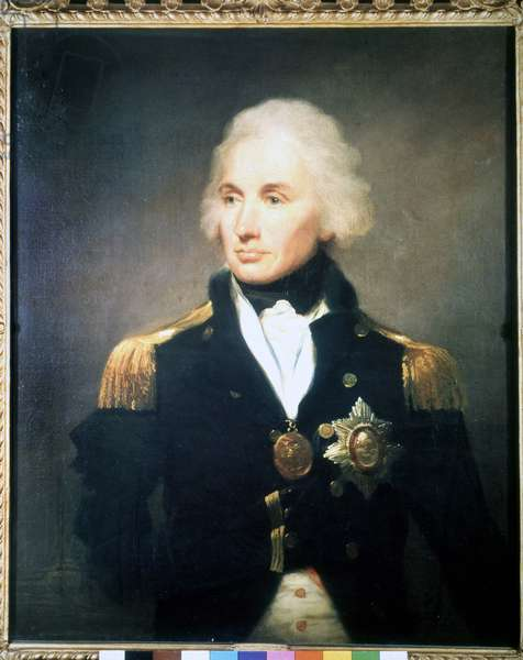 Lord Horatio Nelson, British Admiral (1758 - 1805). Painting by Abbott. 18th century.National Maritime Museum, Greenwich