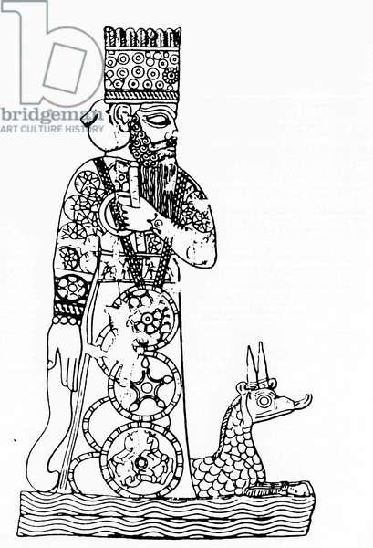 Babylonian gods Mardouk and Tiamat