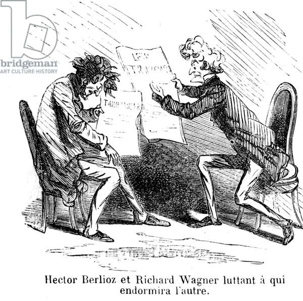 Hector Berlioz and Richard Wagner (engraving)