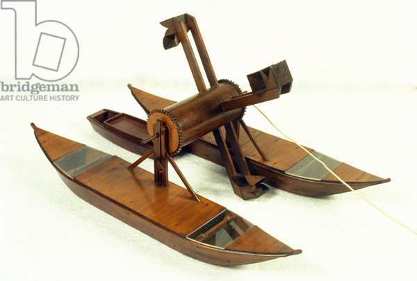 Lagoon dredge, model after a drawing by Leonard de Vinci (Leonardo da Vinci) (1452 - 1519). Museum of Science and Technology, Milan.