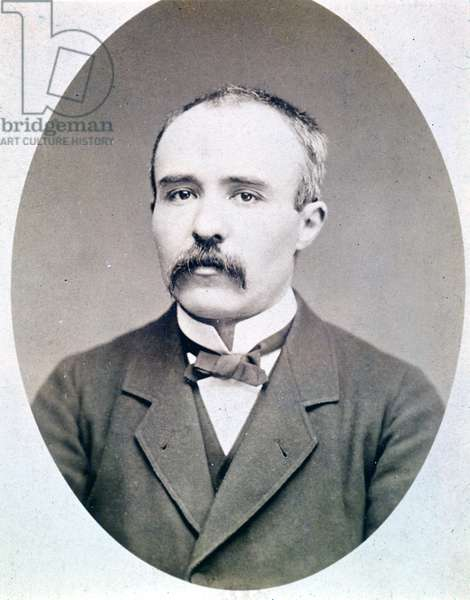Photograph of Georges Clémenceau young (1841 - 1929) around 1870 - 1880.