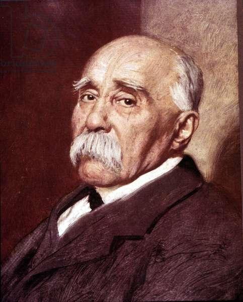 Portrait of Georges Clémenceau.