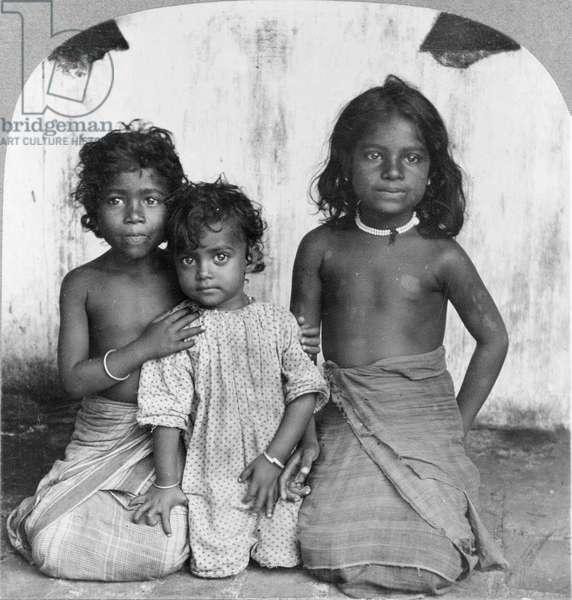 Tamil children of Ceylon (present-day Sri Lanka).