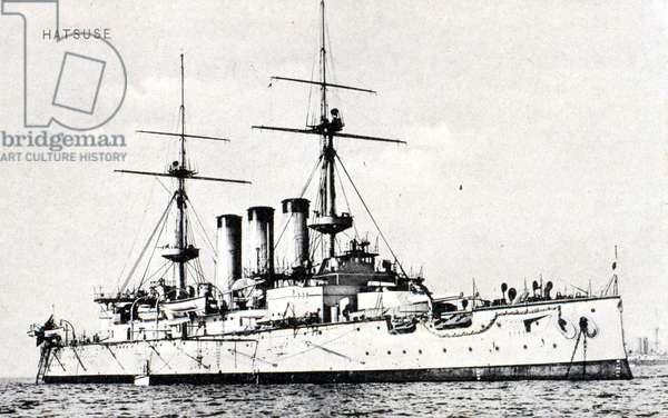 Le Bateau japonais HATSUSE ayant participé à la bataille de Tsushima en 1905.