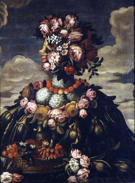Giuseppe Arcimboldo (1527 - 1593). Spring. Milan, Castello Sforzesco.