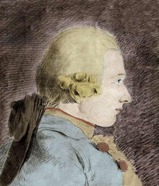 Portrait of Donatian Alphonse Francois de Sade (1740-1814) (Marquis de Sade) - after Van Loo