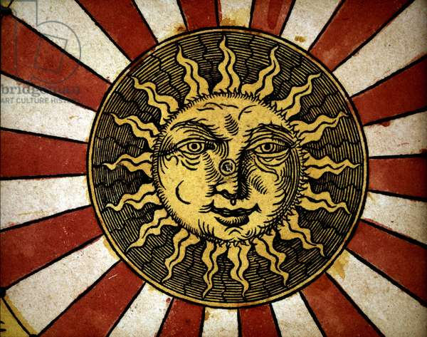 "The sun - in """" Astronomicon caesarum"""", treatise of the 16th century."