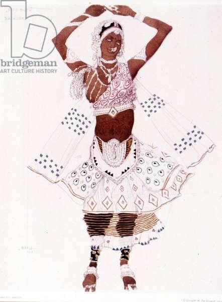 "Bayadre costume created by Léon Bakst for ""The Blue God"" by Reynaldo Hahn (1875 - 1947), 13/05/1912."