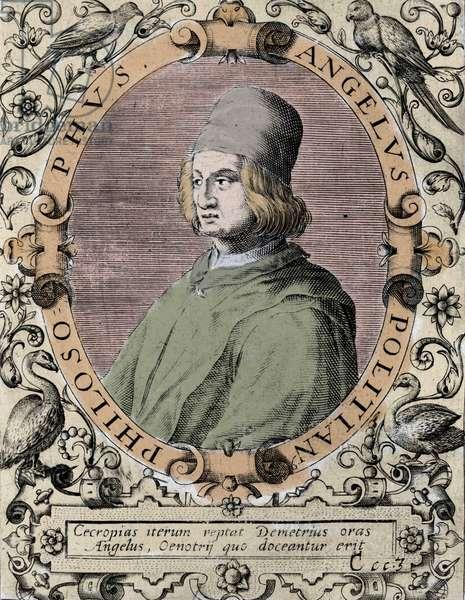 Portrait of Angelo Poliziano (Police Angel) Italian humanist 1454-1494.