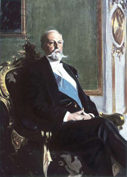 Portrait of King Oscar II. King of Sweden and Norway. 1829-1907.