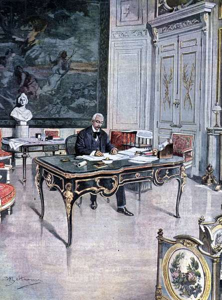 President of the French Republic Félix Faure in 1899 Illustration by Achille Beltrame