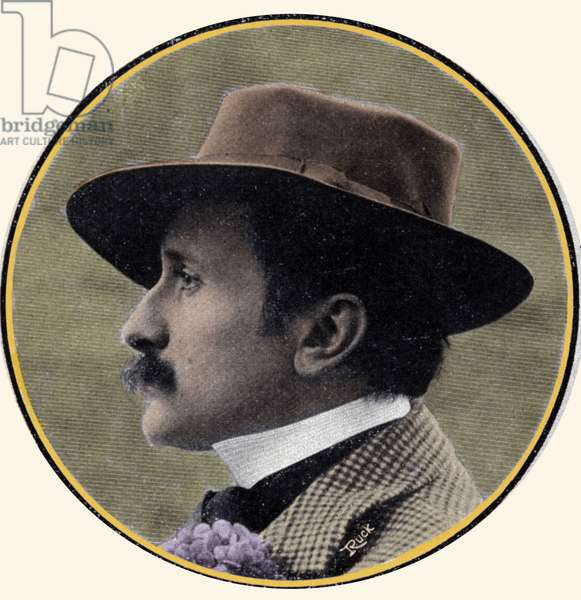 Portrait of Edmond Rostand (1868-1918), French writer.