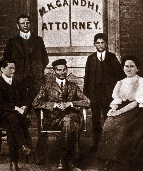 Portrait of political leader Mohandas Karamchand Gandhi (1869-1948) lawyer in Durban, South Africa. Photography 1893