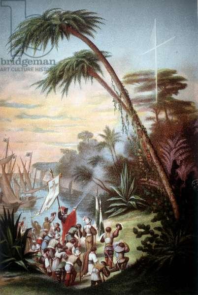 Christopher Columbus arrived in San Salvador in 1492.