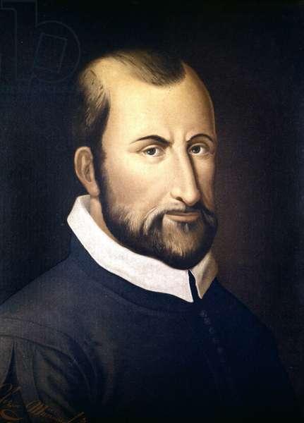 Portrait of Giovanni Pierluigi Da Palestrina (1525 - 1594), Italian composer.Conservatorio of Milan