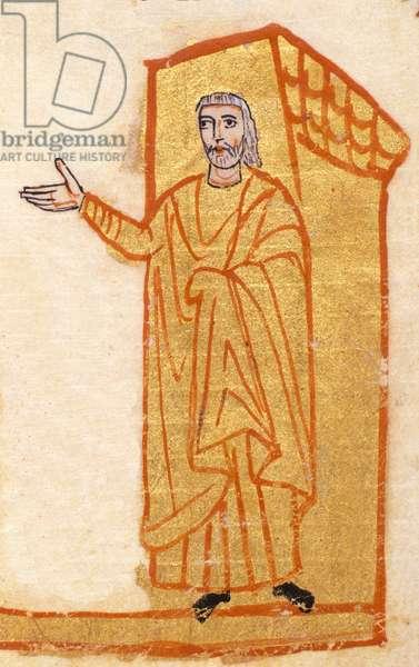 The astronomer Hipparchus of Nicee (2nd century BC) - Codex de San Gregorio di Nazianza (Nazianzeno) (Saint Gregoire of Nazianze) - Greek manuscript of the 9th century