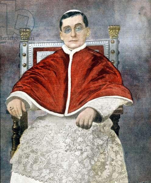 Pope Benedict XV (1854 - 1922).