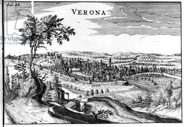 City map of Verona 16th.