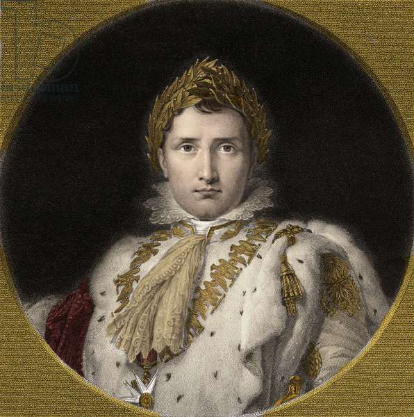 Napoleon Bonaparte 1769-1821 - engraving - 19th century