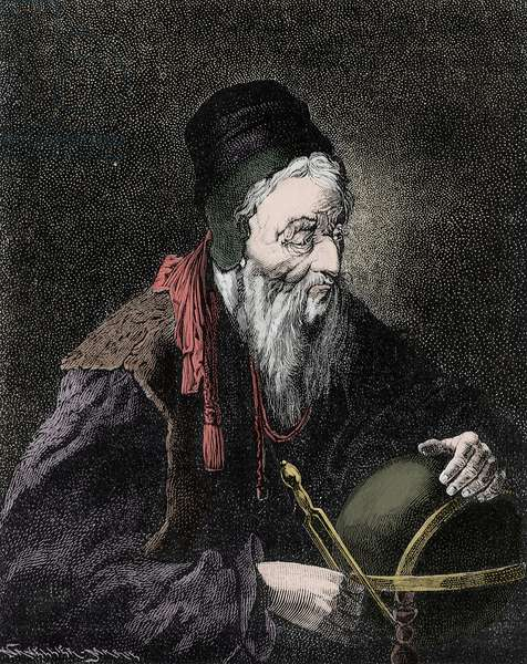 Portrait of Nostradamus, Michel de Notre Dame (1503-1566) French astrologer and doctor - Engraving of the 19th century
