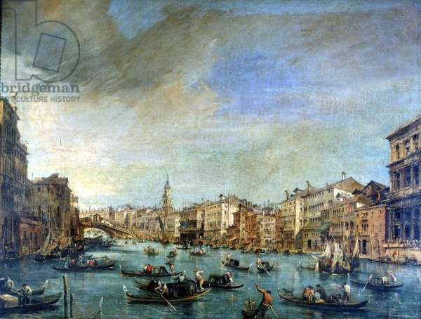Venice, view of the Canal Grande by Francesco Guardi (1712 - 1793).