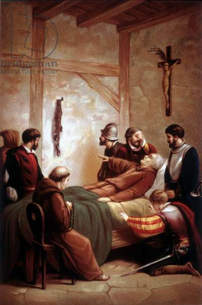 The death of Christopher Columbus (1451-1506), navigator of Italian origin.
