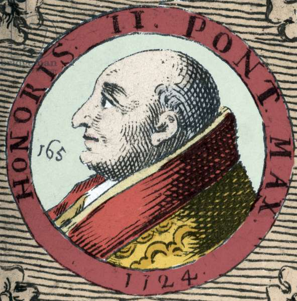 Portrait of Honorius II Pope from 1124 to 1130. (Lamberto Scannabecchi)