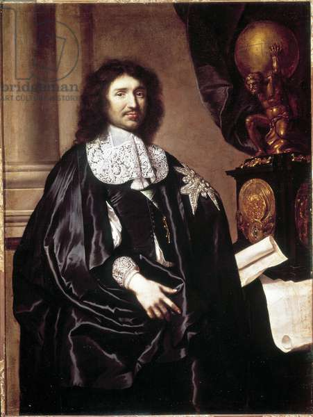 Jean Baptiste (Jean-Baptiste) Colbert (1619-1683), French statesman. Painting by Claude Lefebvre (1632-1675). Versailles Museum