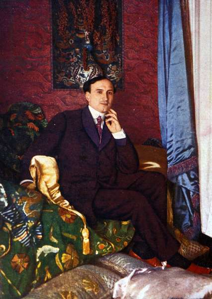 Portrait of Henry Bataille (1872 - 1922), French playwright. Illustration of the beginning of the 20th century.
