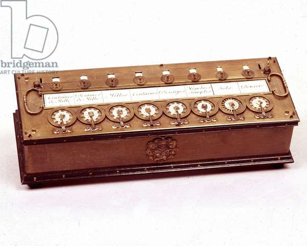 La Pascaline (calculation machine of Blaise Pascal)