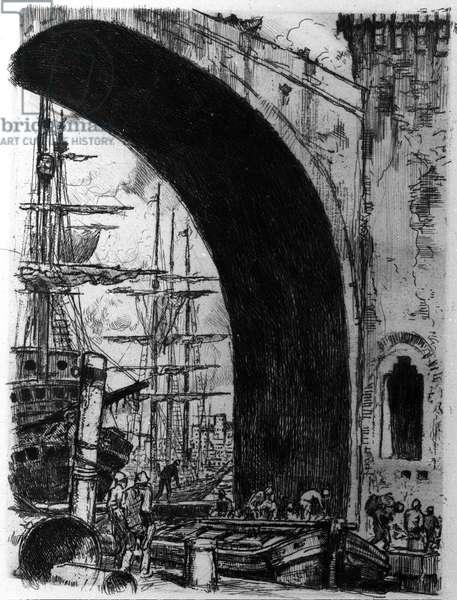 "The port illustration of """" Spleen"" by Charles Baudelaire (1821-1867) by Almery Lobel Riche (Lobel-Riche) (1880 - 1950)"