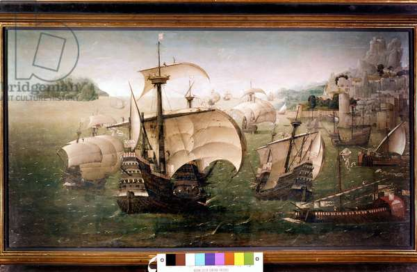 Caraque (very large ship) Portuguese Santa Caterina do Monte Sinai. Anonymous painting. 1520 National Maritime Greenwich