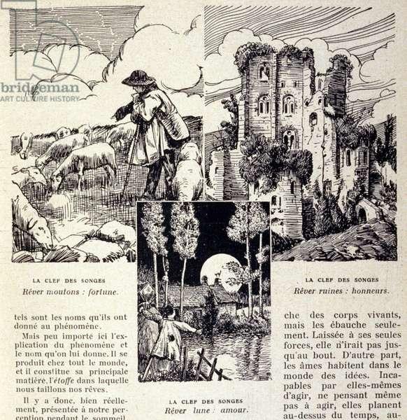 Studies on dreams: page of a book of interpretation of dreams, 20th century