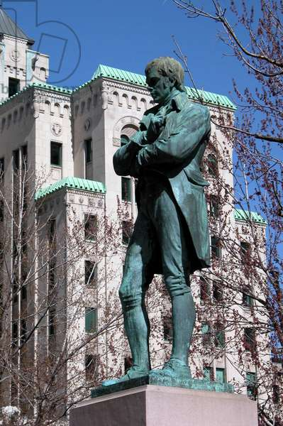 Monument to Robert (Robbie) Burns, (1759-1796), Scottish poet, sculpture by George Anderson Lawson (1832-1904), Montreal, Quebec, Canada.