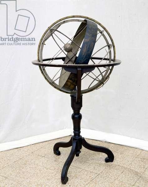17th century armillary sphere: Milan, Museo Nazionale delle Scienze e delle Tecniche.